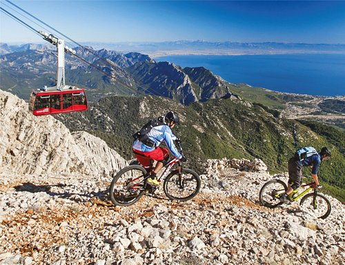 Embrace sky at Olympos Teleferik 2365 m. with Olympos Cable Car.