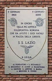 Lapide commemorativa della nascita della S.S.Lazio 1900