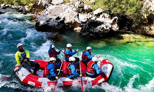 Whitewater rafting Soča river