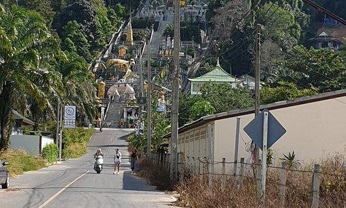 Vue de la montagne depuis la route principale