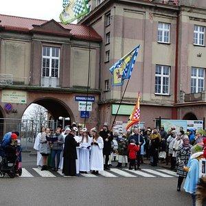 Władysławowo kościół WNMP orszak III Króli 6 stycznia