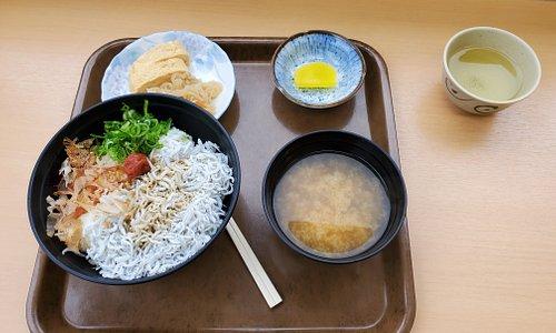 吉備湯浅休息站和歌山特產小魚飯套餐