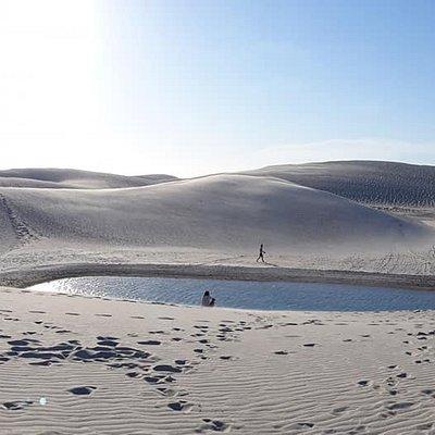 Lagoa após a duna oeste da lagoa do Amâncio.