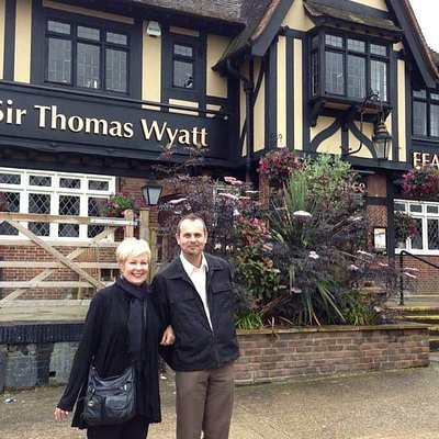 My son and I visited Maidstone a few years ago and stopped for a drink at the Wyatt.  I'll be returning in April to have another drink and to also visit Allington Castle.  Sir Thomas Wyatt, the Younger, was my 10X great-grandfather.  Doing some exploration.
