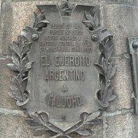 Monumento a Falucho: Plazoleta Falucho, Barrio Palermo, Bs.As. 2020.