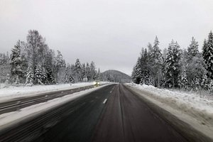 Snödberget seen from E4 in Kramfors, Sweden