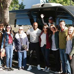 Great group on our morning tour on Hollywood Blvd!