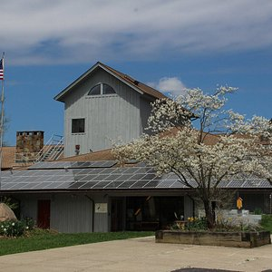 Audubon Community Nature Center has three floors of exhibits and play areas, a gift shop, live animals and wildlife viewing area.