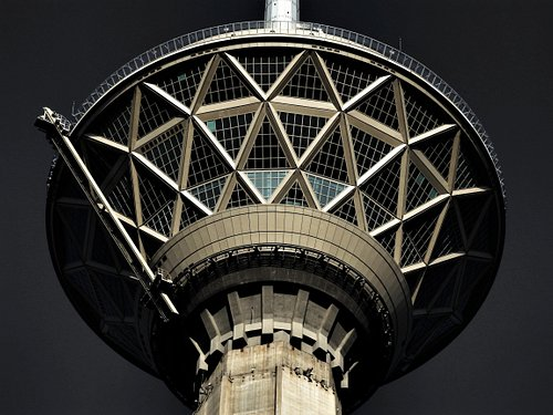 Tehran's Milad Tower is a multi-purpose skyscraper located northwest of Tehran. Milad Tower is the tallest tower in Iran and the sixth tallest telecommunication tower in the world. The general form of the body consists of a central octagon with some interior walls and four trapezoidal wings connected to it.
