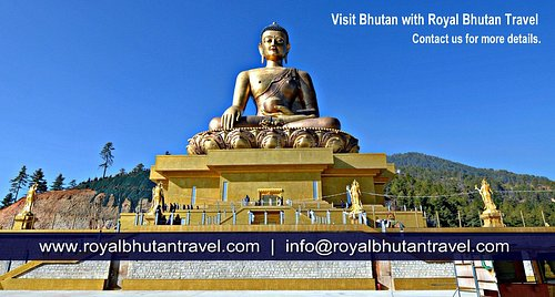 Great Buddha Dordenma is a gigantic Shakyamuni Buddha statue in the mountains of Bhutan celebrating the 60th anniversary of fourth king Jigme Singye Wangchuck.