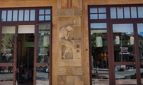 Some of the exterior artwork