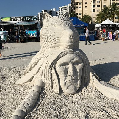 Sand sculpting championship at Fort Myers Beach, Chief