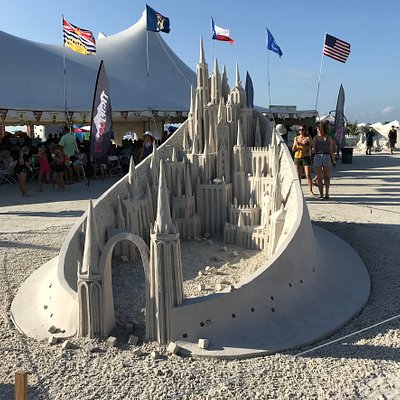 Sand sculpting championship at Fort Myers Beach, Castle
