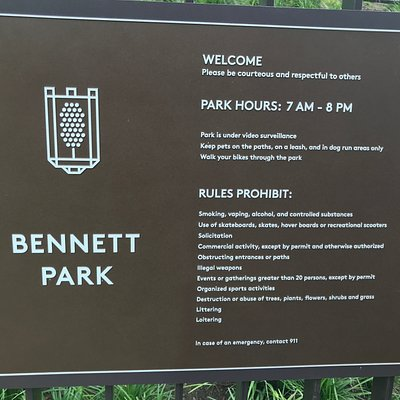 Overview of park rules