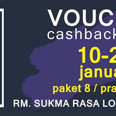 untuk para traveling yang ada di lombok,,, gunakan voucher ini untuk mendapat cashback d RM, sukma Rasa ya,,, outlet taman loang baloq,, mataram wa. +6287706738222
