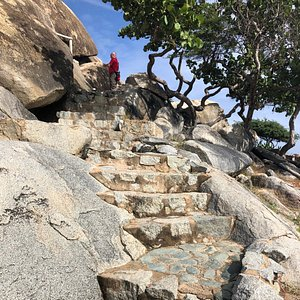 Little stop to the Casibari Rock Formations with a nice view at the top of Aruba!