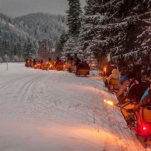 Kuligi Zakopane Sleigh Ride with torches