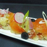 Duo de saumon de la Table d'Hôtes Savoie
