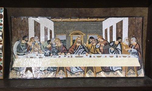 Santa Ceia em Mosaico , Madaba -  Jordania