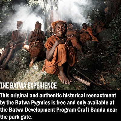 This original and authentic historical reenactment by the Batwa is free and only available at the Batwa Development Program Craft Banda near the park gate.