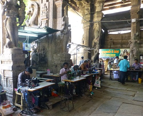 Tailors at work in market