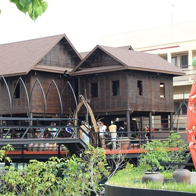 Front of Ancient Korat House