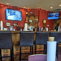 Picture of the bar from my very comfortable table.