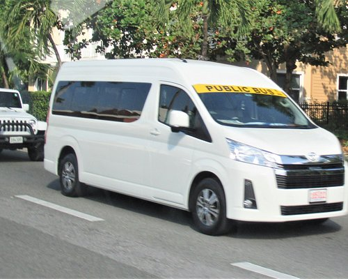 Typical mini-bus on Grand Cayman.