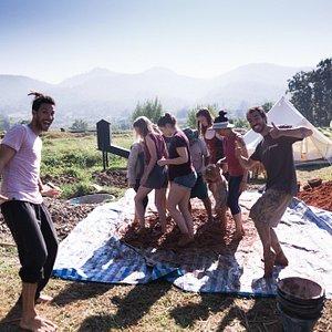 mud building workshop