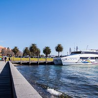 Port Phillip Ferries sitting pretty at Steampacket Quay, Geelong.
