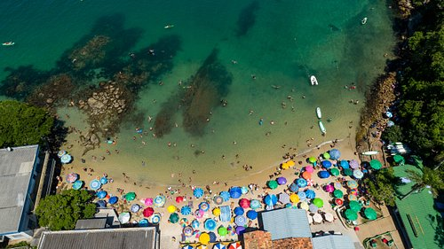 Praia da Sepultura vista de cima