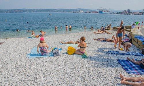 Na plaży Zusterna