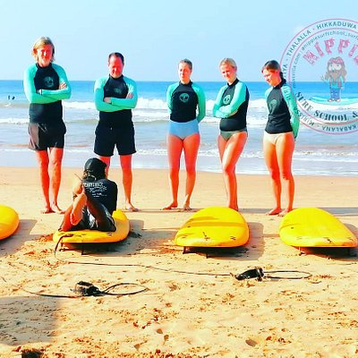 Family surf training