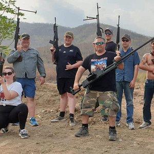 Jeo team for the Cambodia Fire shooting Range outdoor Phnom Penh