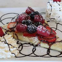 Berries/Whipped Cream/Chocolate crepe