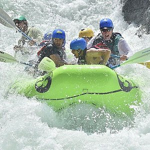 Class 4 rafting on the Middle Fork American River