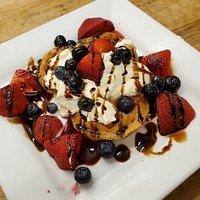 Berry Waffle Cheesecake