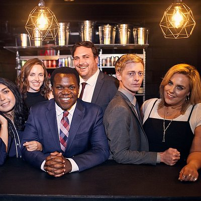 """Improv Asylum NYC's Main Stage Cast of """"Cult Classic, or EGOT Game"""""""