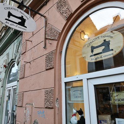 you can find our embroidery art, gifts and souvenirs shop in Brasov, MIchael Weiss.we will be presenting products proudly made in Brasov, created in our workshop