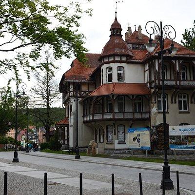 Eastern end of deptak in Świeradów-Zdrój