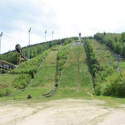 Two highest ski jumping hills of Letalnica Certak
