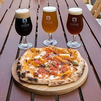 Stone baked pizzas and locally brewed beers!