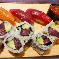 Tuna & Avocado roll  Bluefin tuna sushi Salmon sushi