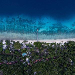 Aerial View of NusaBay Menjangan by WHM