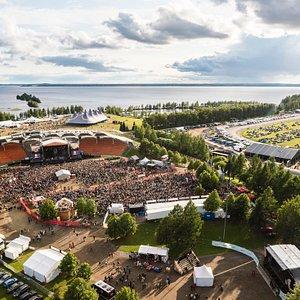 Festivaalialue, Ilosaarirock 2020. © Kalle Kervinen