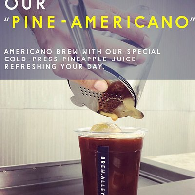 """New Arrival  Must try our """"Pine-Americano""""  When americano infused with cold-press pine apple juice it blended incredible!   Pls come and visit us"""