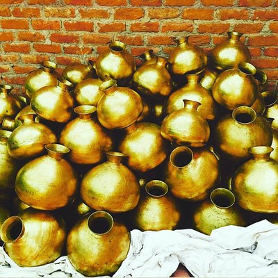 Pakistani brass milk pot