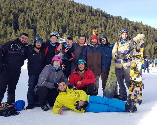 Snowboard tuition with Tihomir