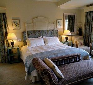 Cheviot room, European king size bed, ensuite shower. Overlooks the garden.
