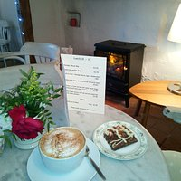 Delicious coffee and home made cakes - not to mention a warm welcome